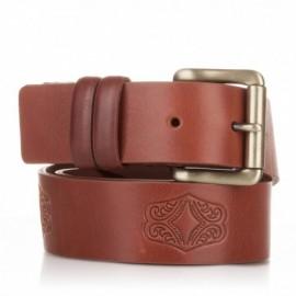 Cinturón grabado de piel al corte cuero