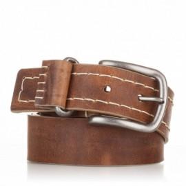 Cinturón cosido de piel cuero