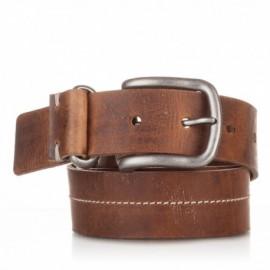 Cinturón de piel al corte cosido cuero