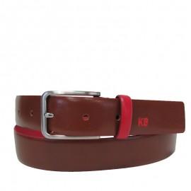 Cinturón liso de piel negro