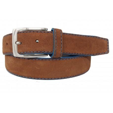 5146-35-KG-CU Cinturón de piel serraje Cuero