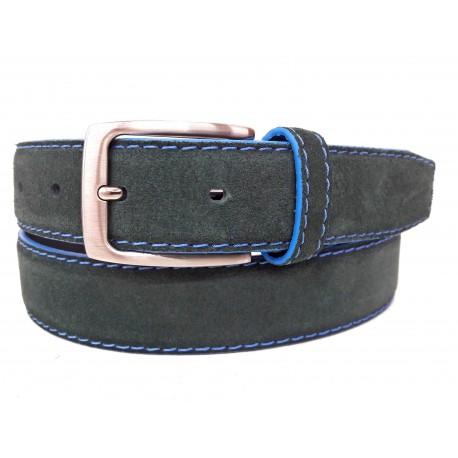 5146-35-KG-VE Cinturón de piel serraje Verde