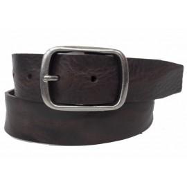 5029-40-KG-Marrón Cinturón de piel moldeada al corte